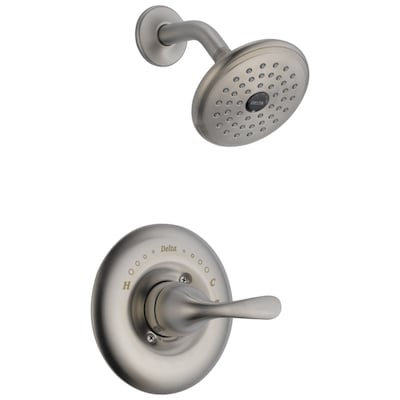 Clic Stainless 1 Handle Shower Faucet With Valve