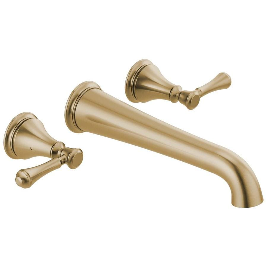 Delta Cassidy Champagne Bronze 2 Handle Wall Mount Bathtub