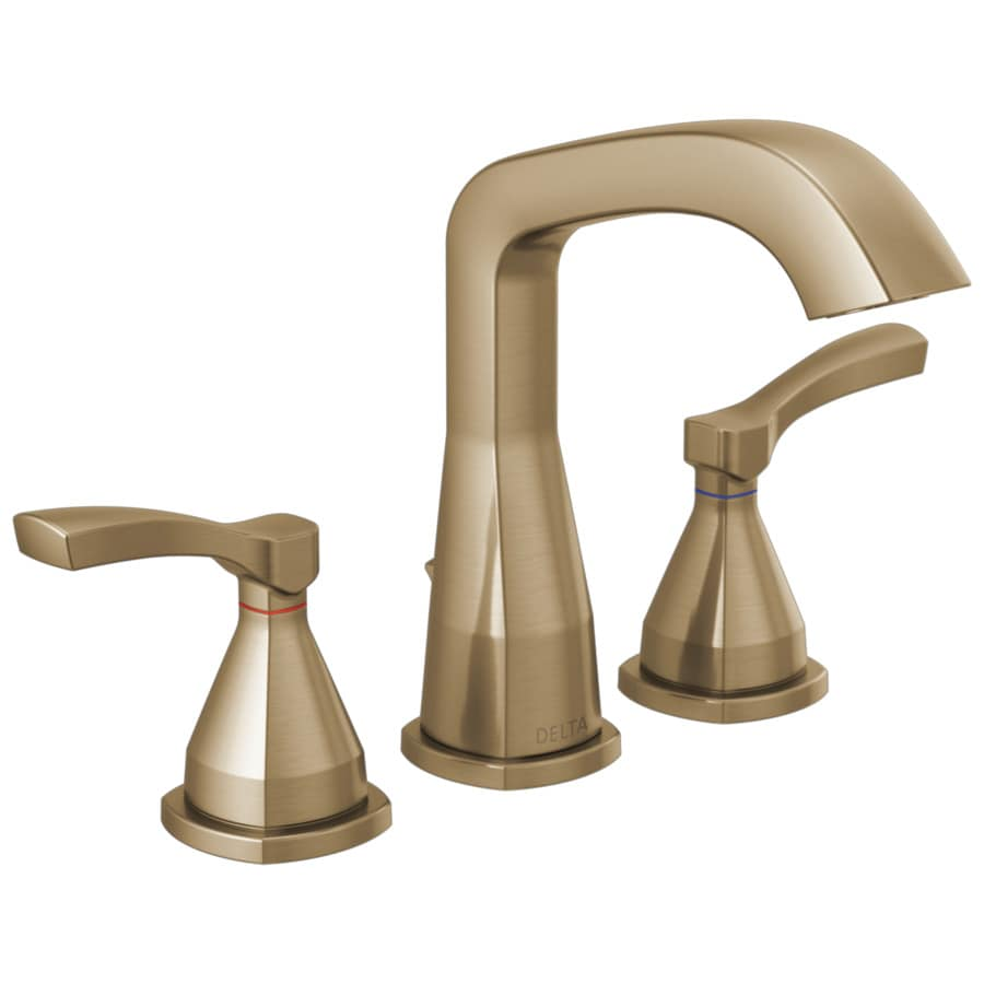 Champagne Bathroom Sink: Delta Stryke Champagne Bronze 2-handle Widespread