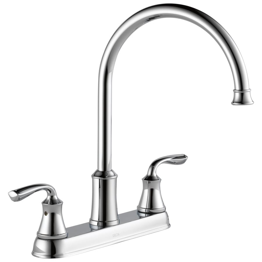 Delta Lorain Chrome 2 Handle High Arc Kitchen Faucet With