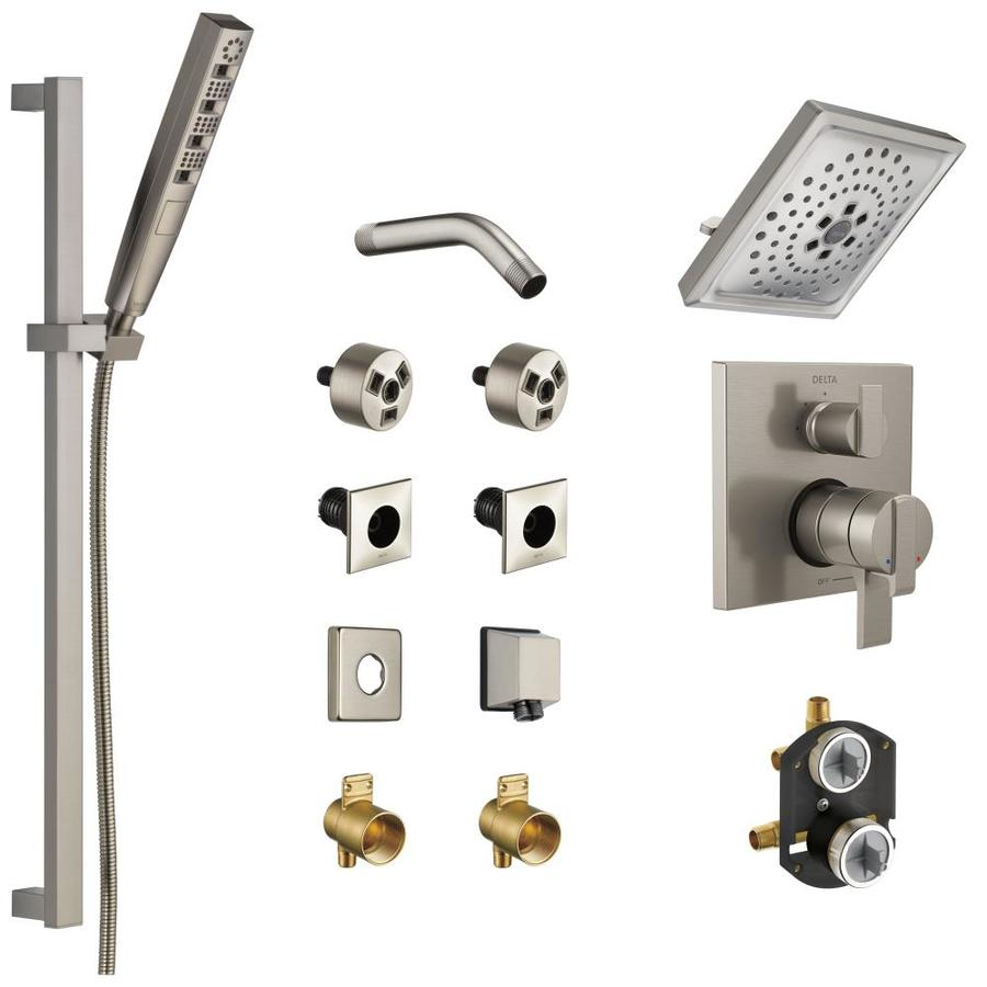 Delta Pivotal Stainless 2 Spray Shower Bar System At Lowes Com