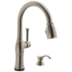 Delta Leland Voiceiq Arctic Stainless 1 Handle Deck Mount Pull Down Touchless Kitchen Faucet In The Kitchen Faucets Department At Lowes Com