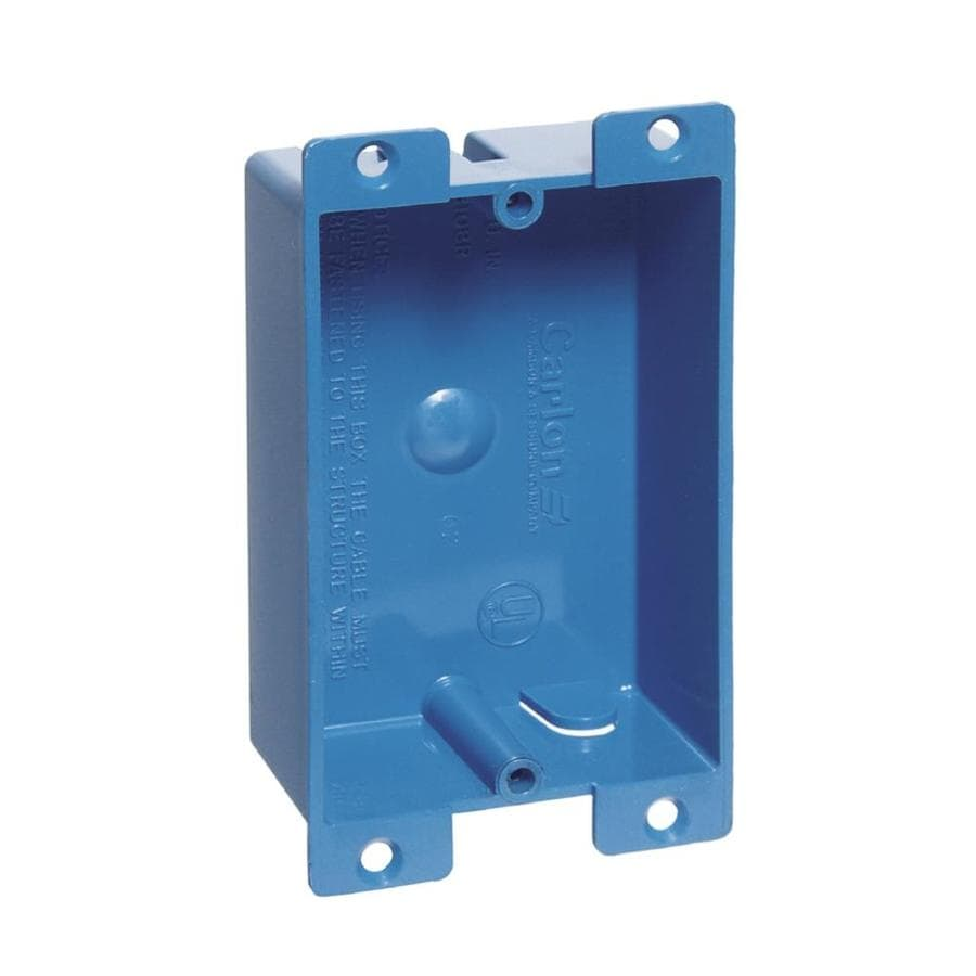 CARLON 8-cu in 1-Gang Plastic Old Work Wall Electrical Box
