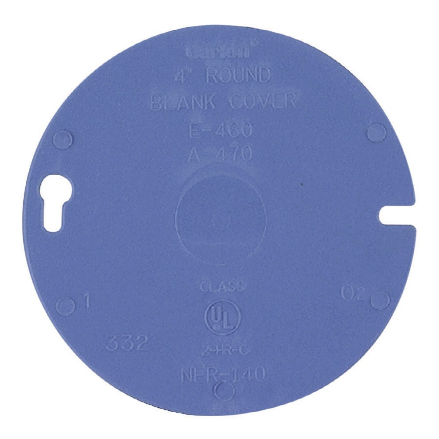 Shop Carlon Round Plastic Electrical Box Cover At Lowes Com