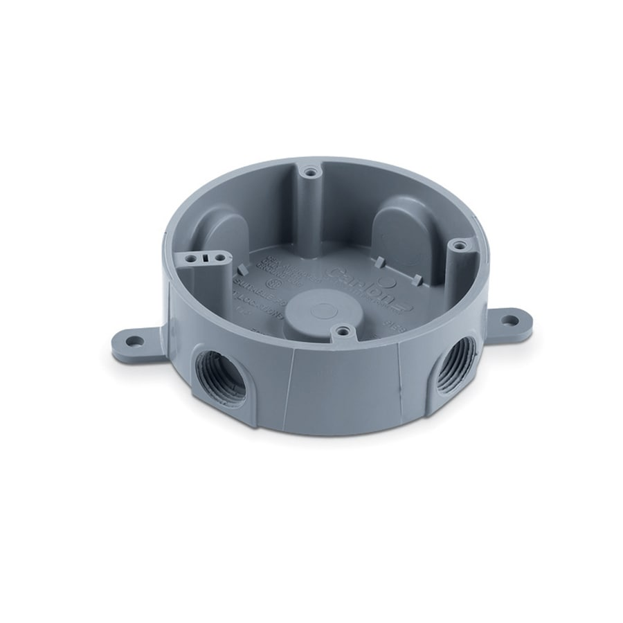 CARLON 1-Gang Gray Plastic Interior New Work/Old Work Standard Round Wall Electrical Box