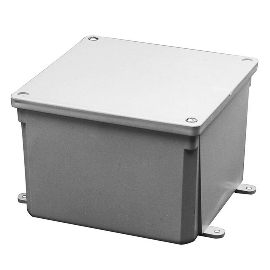 CARLON 0-Gang Gray Weatherproof Pvc New Work/Old Work Junction Box