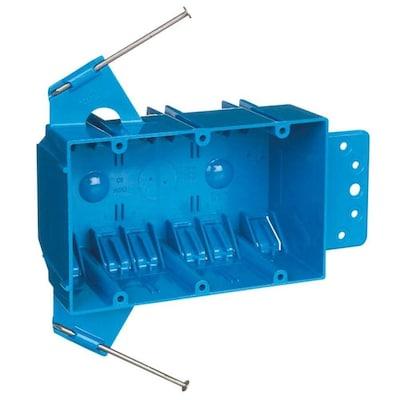 CARLON 3-Gang Blue Plastic Interior New Work Standard Switch ... on