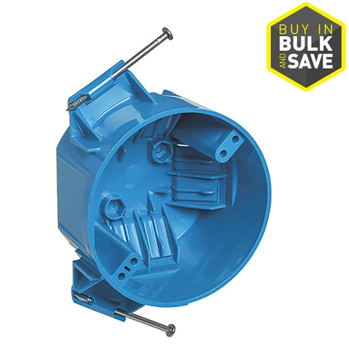 Carlon 1 Gang Blue Pvc New Work Standard Round Ceiling Electrical Box At Lowes Com