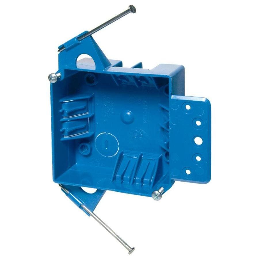 CARLON 1-Gang Blue Plastic Interior New Work Standard Switch/Outlet Electrical Box