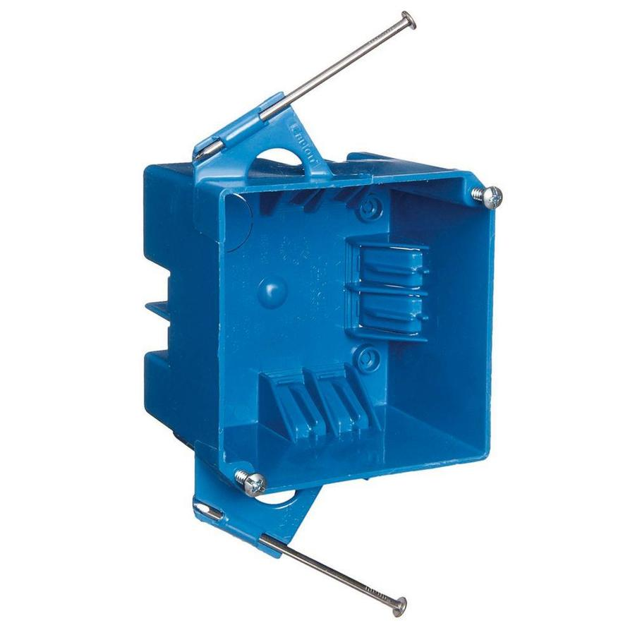 CARLON 2-Gang Blue Plastic Interior New Work Standard Switch/Outlet Electrical Box