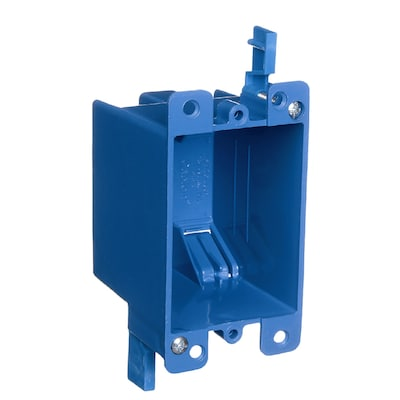 1-Gang Blue Plastic Interior Old Work Standard Switch/Outlet Wall  on