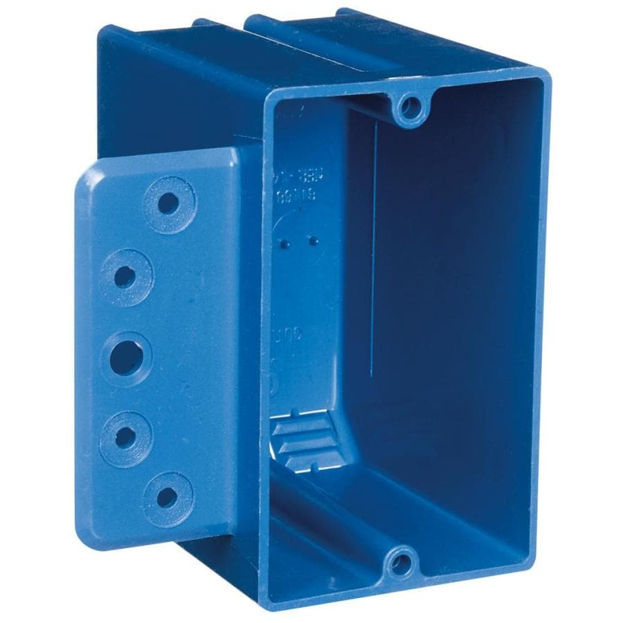 CARLON 1-Gang Blue Plastic Interior New Work Standard Switch/Outlet Wall Electrical Box