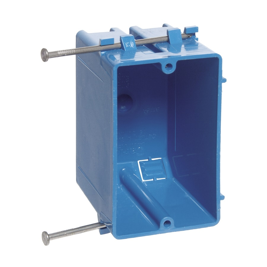 Carlon 1-Gang Blue Plastic New Work Standard Switch/Outlet Wall Electrical Box B118a