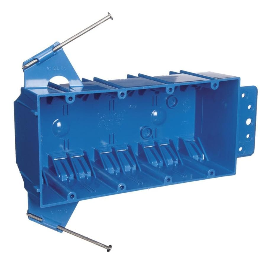 4 4 Weatherproof Electrical Box: Shop CARLON 4-Gang Blue Plastic Interior New Work Standard