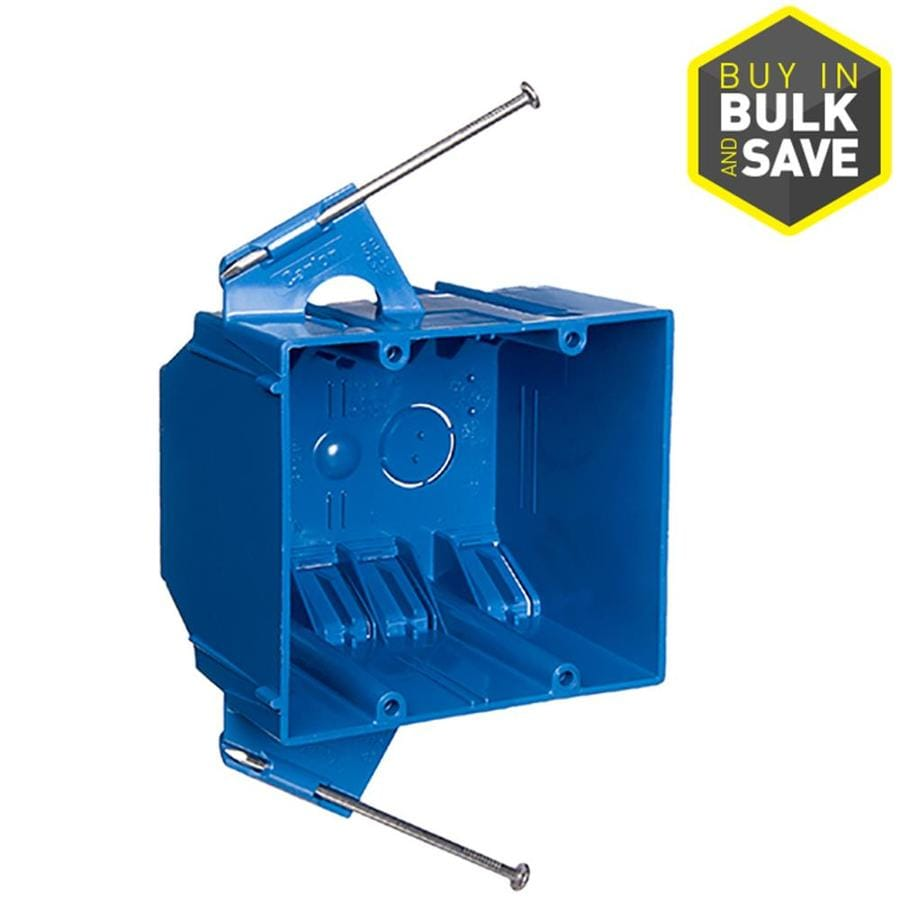 CARLON 2 Gang Blue PVC Interior New Work Standard Switch Outlet Wall Electrical Box