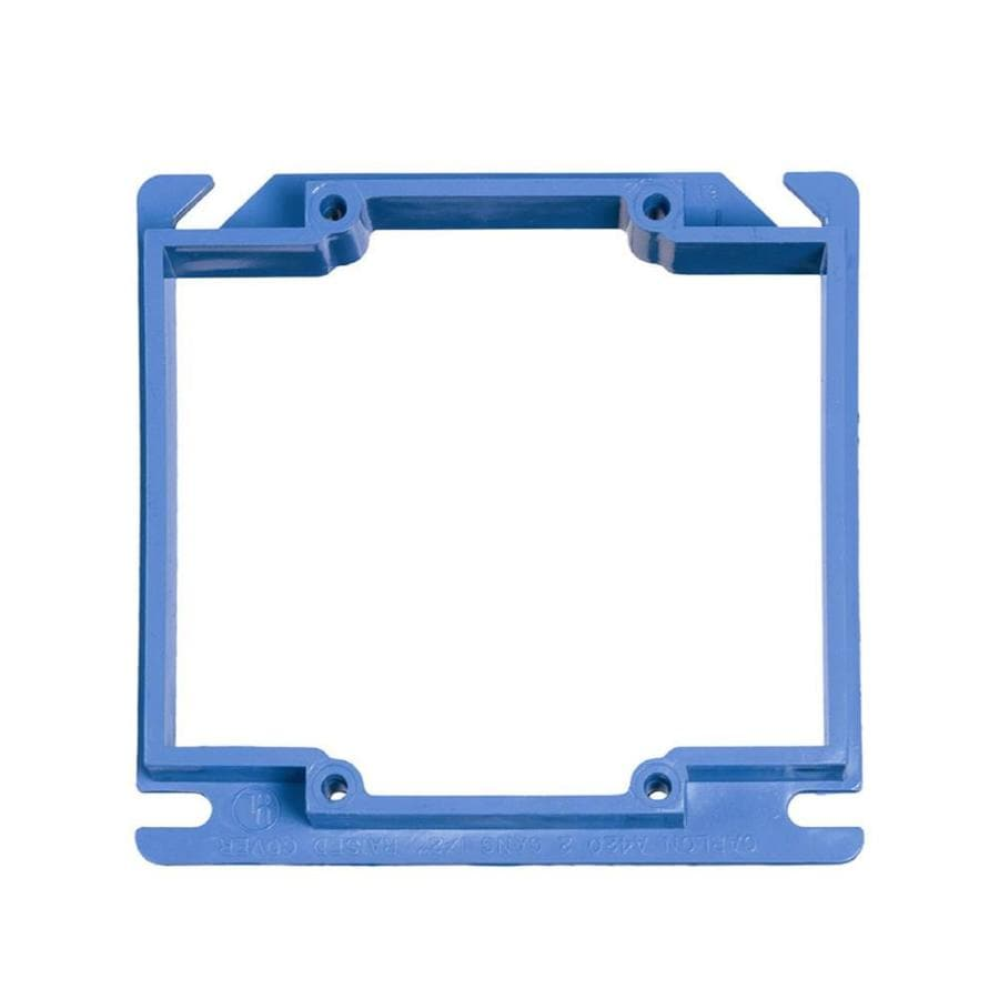 CARLON 2-Gang Square Plastic Electrical Box Cover