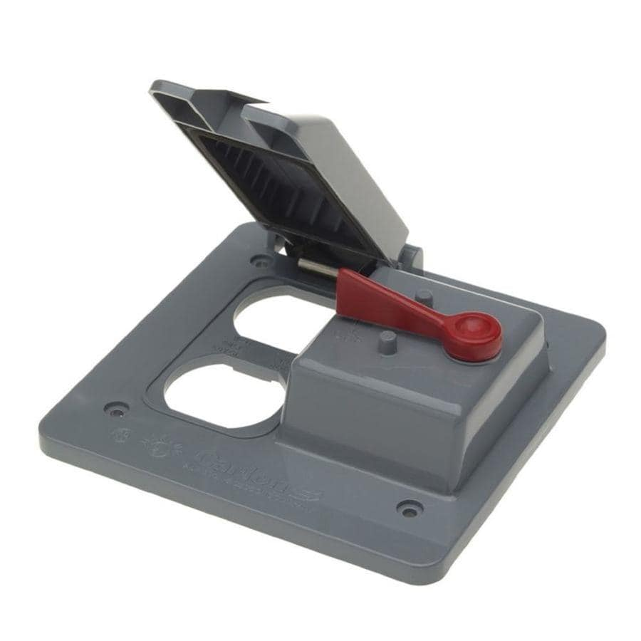 Plastic Weatherproof Electrical Boxes: CARLON 2-Gang Square Plastic Weatherproof Electrical Box