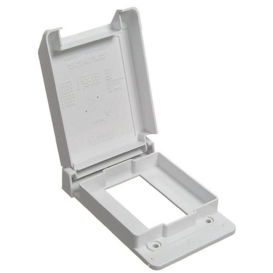 CARLON 1-Gang Rectangle Plastic Weatherproof Electrical Box Cover