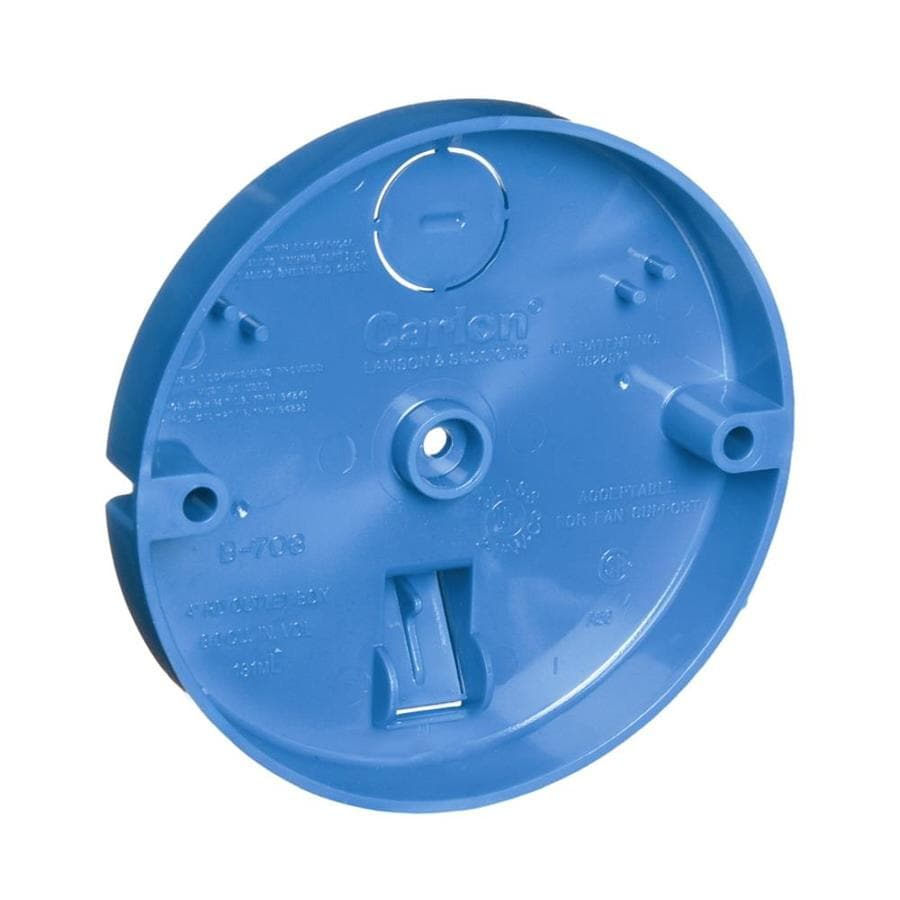 CARLON 1-Gang Blue Plastic Interior Old Work Shallow Ceiling Fan Ceiling Electrical Box
