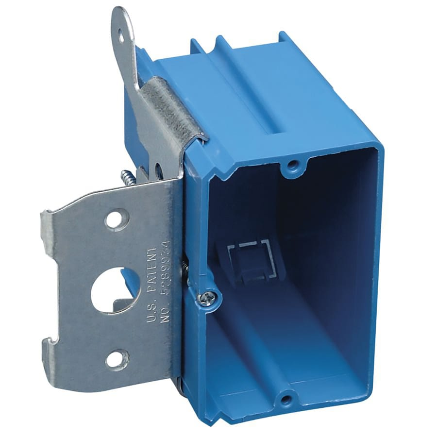 Shop Carlon 1 Gang Plastic New Electrical Box At Lowes Com