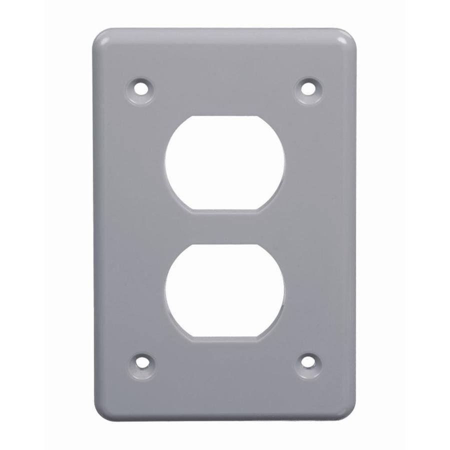 Plastic Weatherproof Electrical Boxes: 1 2-Gang Rectangle Plastic Weatherproof Electrical Box