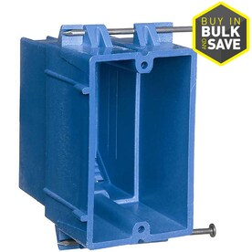 CARLON Super Blue 1 Gang Plastic Interior New Work Standard Switch Outlet Wall