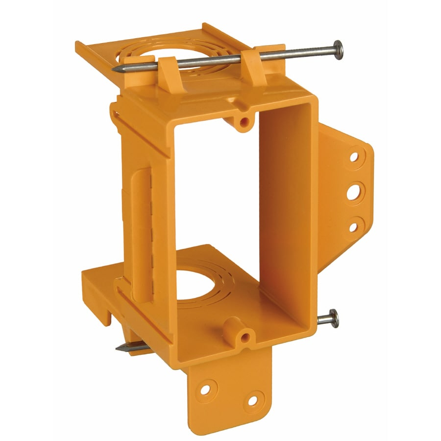 CARLON 1-Gang Orange Plastic Interior New Work Standard Rectangular Wall Electrical Box