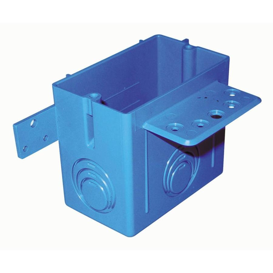 CARLON 1-Gang Blue Plastic Interior New Work/Old Work Standard ENT Wall Electrical Box