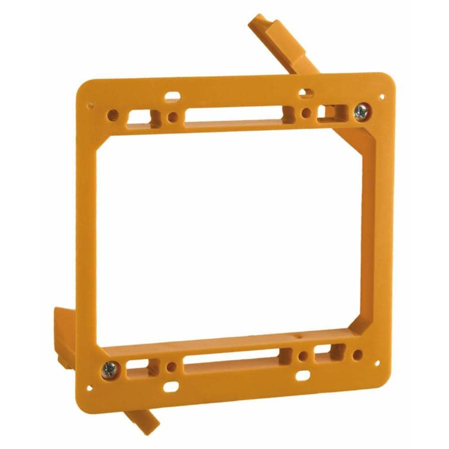 CARLON 2-Gang Orange Plastic Interior Old Work Standard Rectangular Wall Electrical Box