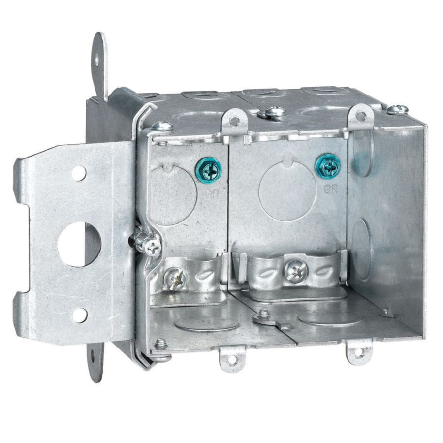 STEEL CITY 38-cu in 2-Gang Metal Adjustable Wall Electrical Box
