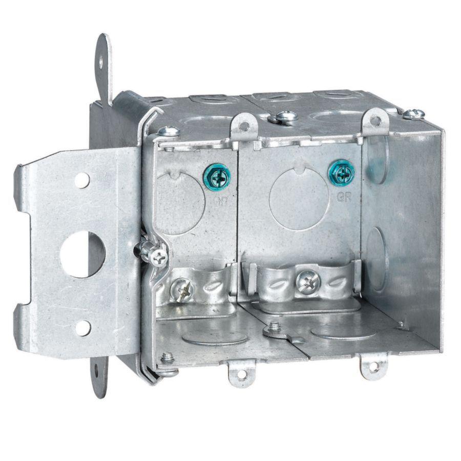 STEEL CITY 38-cu in 2-Gang Metal Adjustable Wall Electrical Box
