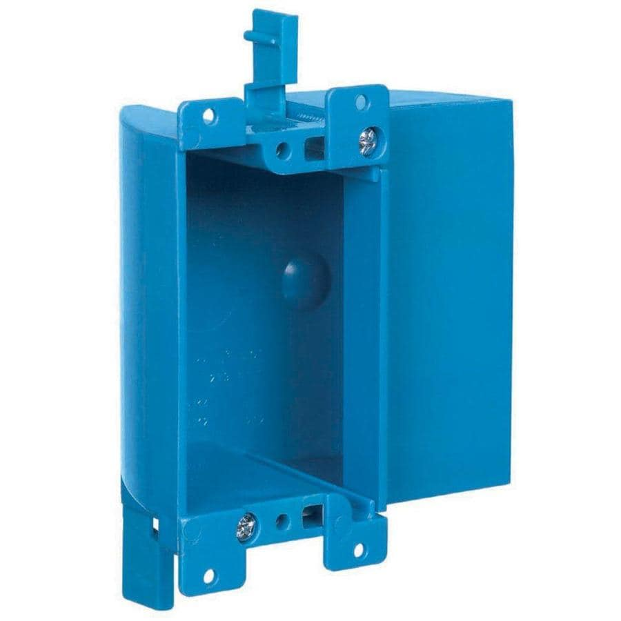 CARLON 1-Gang Blue Plastic Interior Old Work Shallow Rectangular Electrical Box
