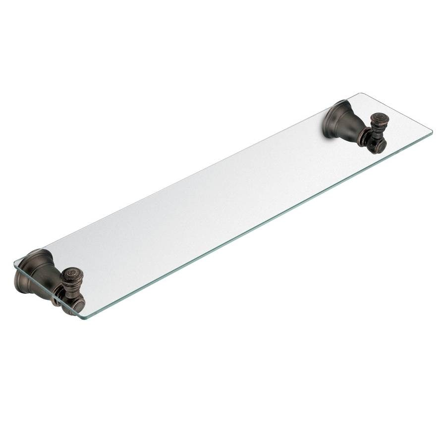Moen Kingsley Oil-rubbed bronze Glass Bathroom Shelf