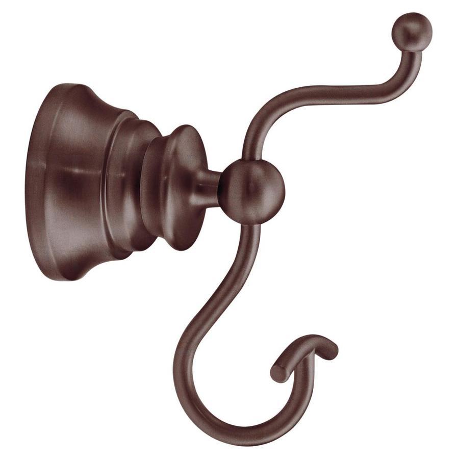 Shop moen waterhill oil rubbed bronze towel hook at for Bathroom hooks