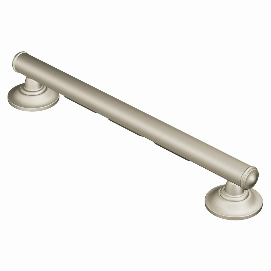 Shop Moen Home Care Brushed Nickel Wall mount Grab Bar at Lowes.com