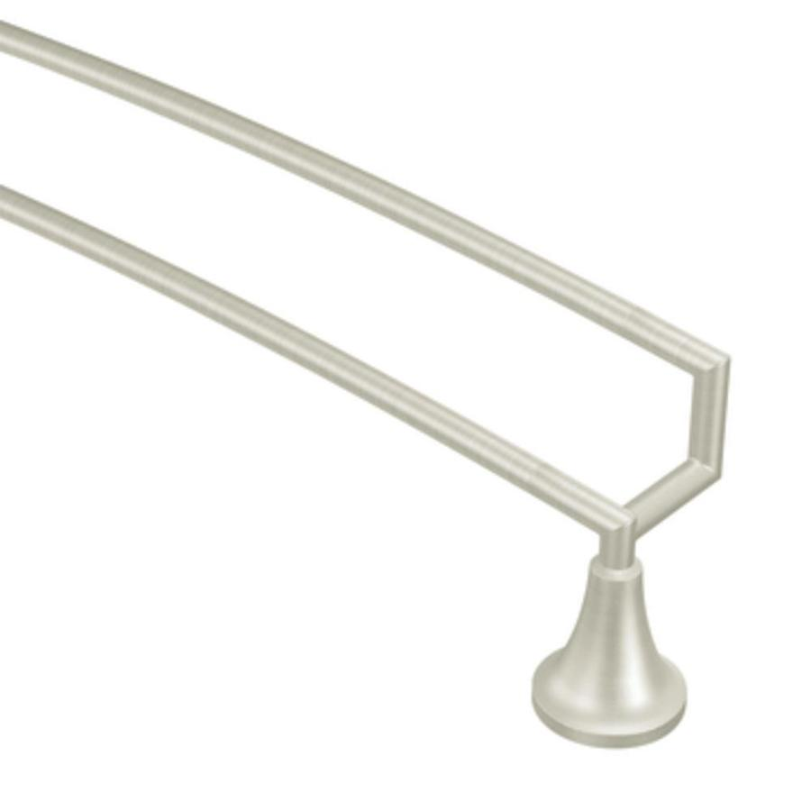 Moen Icon Brushed Nickel Double Towel Bar (Common: 24-in; Actual: 26.25-in)