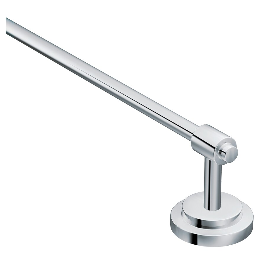 Moen Iso Chrome Single Towel Bar (Common: 18-in; Actual: 20.44-in)
