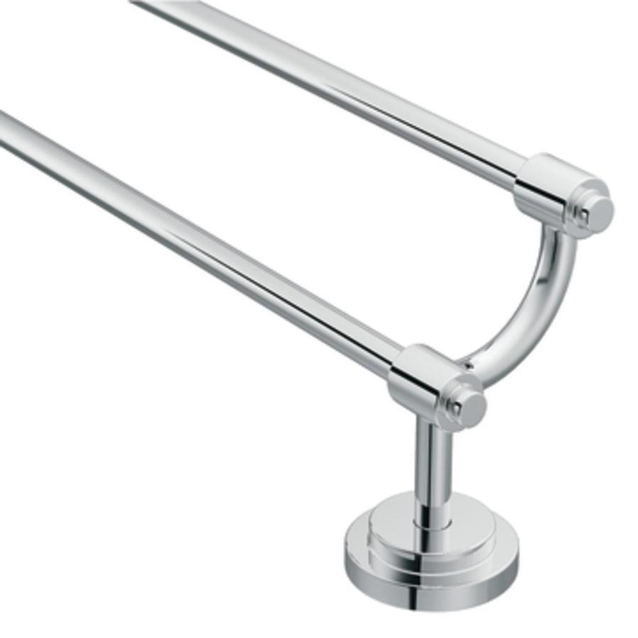Moen Iso Chrome Double Towel Bar (Common: 24-in; Actual: 26.44-in)