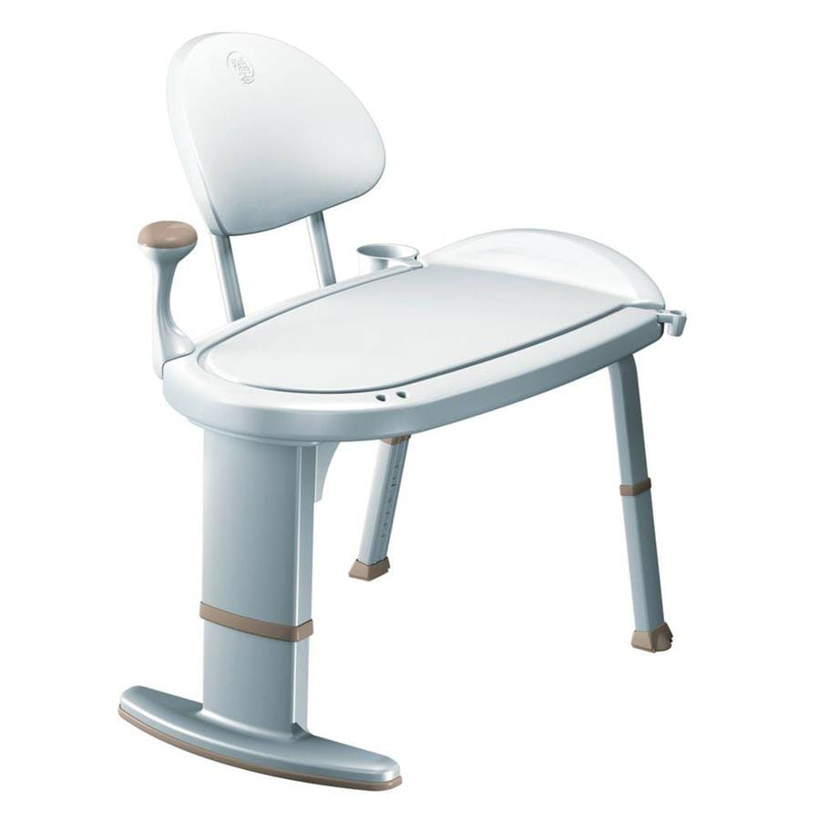 Shop moen white plastic freestanding transfer bench at Transfer bath bench