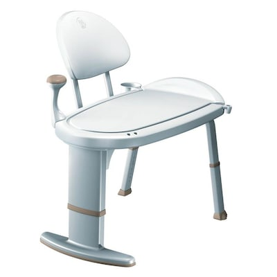Awe Inspiring White Plastic Freestanding Transfer Bench Creativecarmelina Interior Chair Design Creativecarmelinacom
