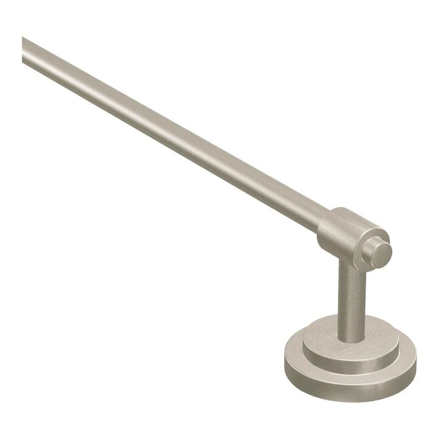 Moen Iso Spot Resist Brushed Nickel Single Towel Bar (Common: 24-in; Actual: 26.44-in)