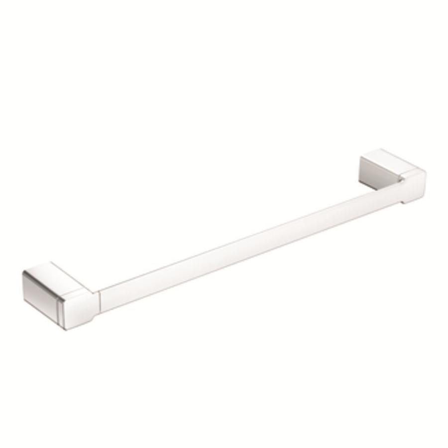 Moen 90 Degree Chrome Single Towel Bar (Common: 24-in; Actual: 25.422-in)