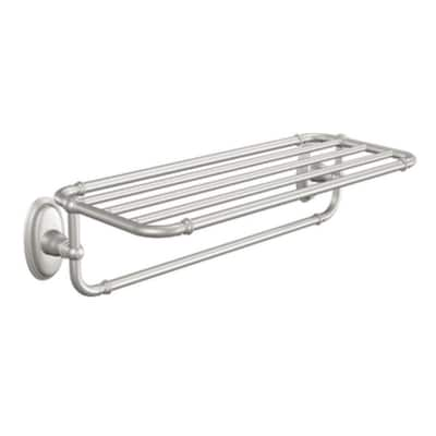 Kingsley Brushed Nickel Wall Mount Towel Rack