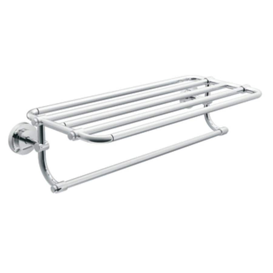 Moen Iso Chrome Rack Towel Bar (Common: 24-in; Actual: 26.95-in)
