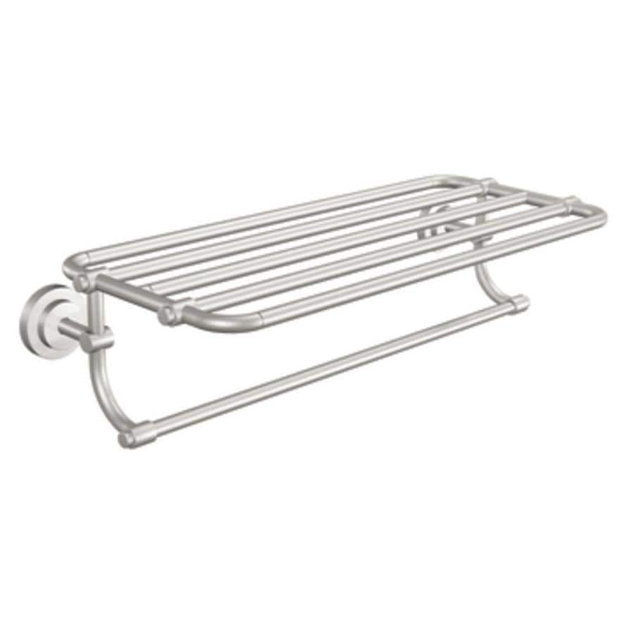 shop moen iso spot resist brushed nickel rack towel bar common 24 in actual at