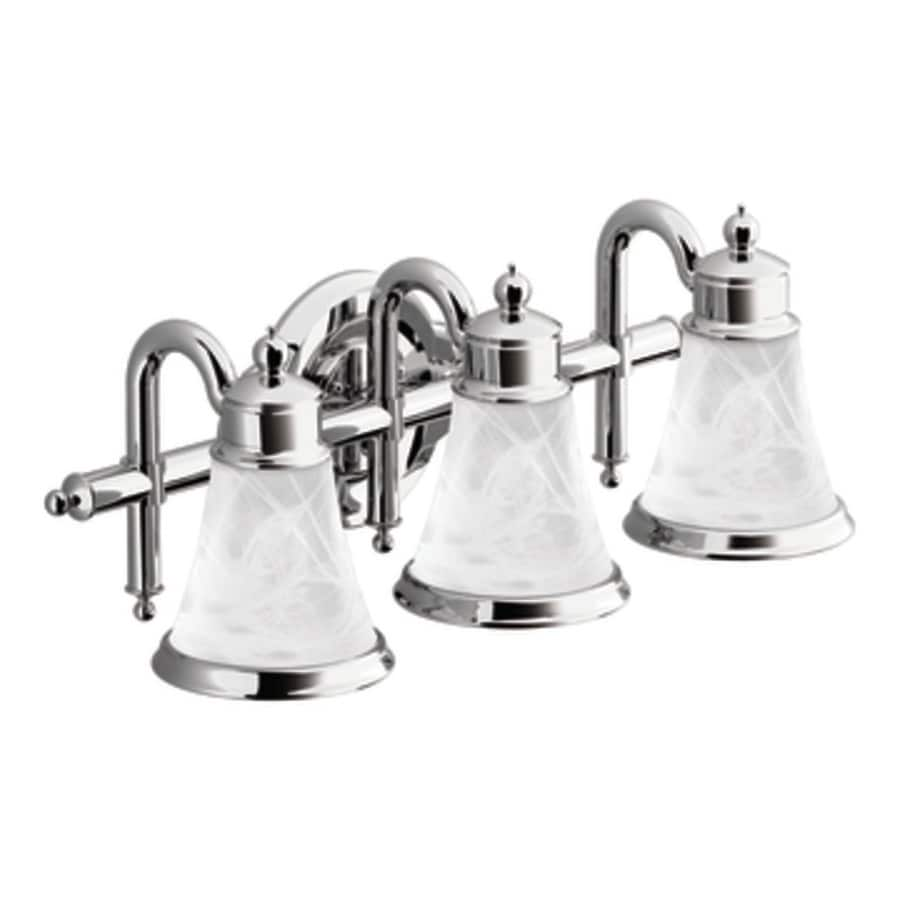 Moen Waterhill 3-Light 8.3-in Chrome Globe Vanity Light