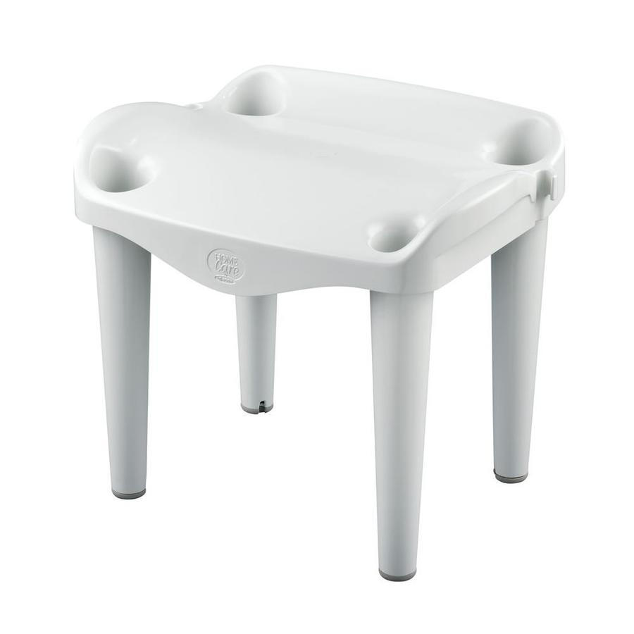 Shop Moen Home Care Glacier Plastic Freestanding Shower Seat at ...