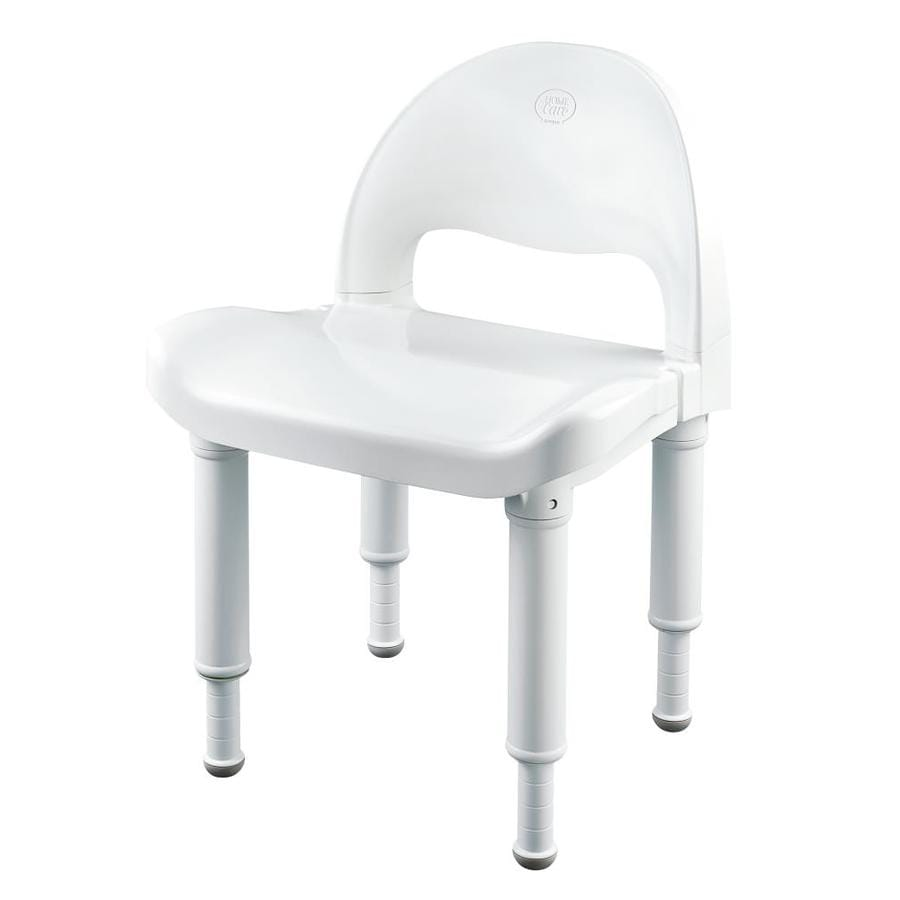 Shop Moen Home Care Glacier Plastic Freestanding Shower Chair at ...
