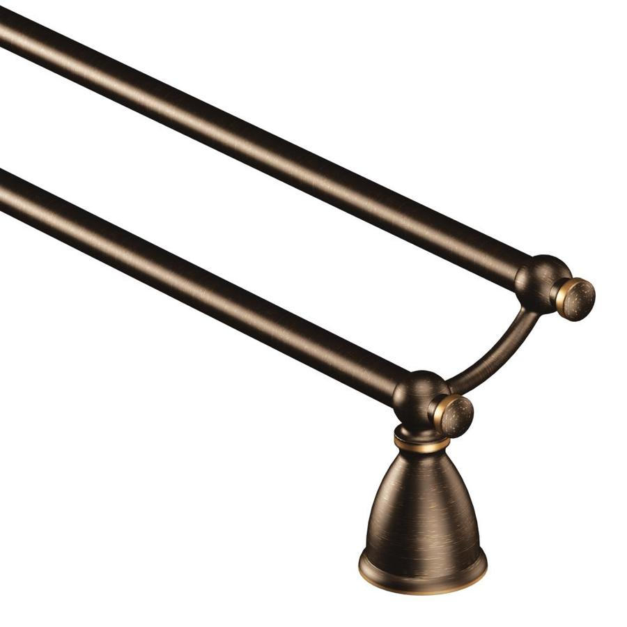 Shop Moen Caldwell Mediterranean Bronze Double Towel Bar