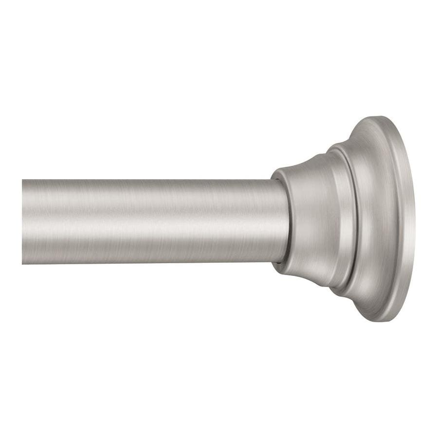 Shop Moen 72 In Brushed Nickel Adjustable Single Shower Curtain Rod At